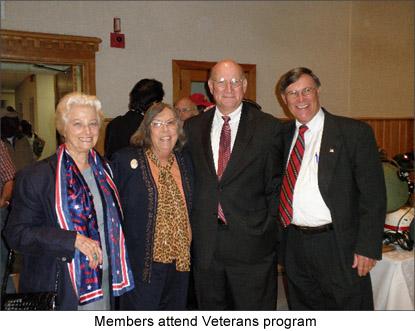 Image of members attending a Veterans Day program